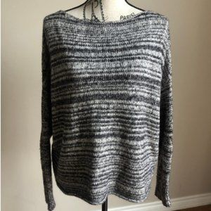 Madewell Threadmix Boatneck Sweater grey/black L